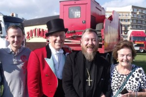 Cherubs Kitchen team with Norman Barrett MBE, Zippo's Ringmaster