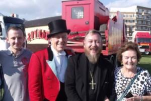 Cherubs Kitchen team with Norman Barrett MBE, Zippo's Ringmaster